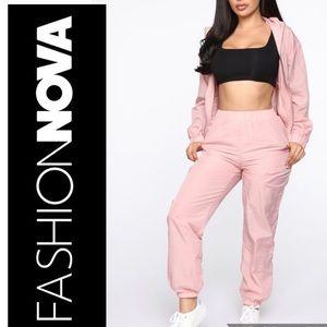Fashion Nova Zip Up Jacket Set